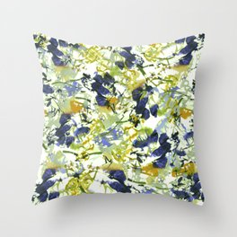 abstract floral pattern Throw Pillow