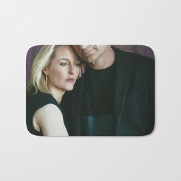 Gillian Anderson and David Duchovny oil color painting Bath Mat