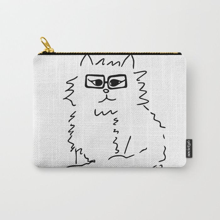 How Do You Like Meow Hipster Kitten Carry-All Pouch