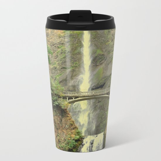 MULTNOMAH FALLS - OREGON Metal Travel Mug