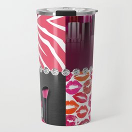 Pink & Purple Fashion Collage Travel Mug