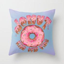 Donut Kill My Vibe Throw Pillow