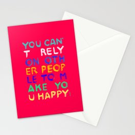 RELY / ABSOLUTELY HAPPY VERSION Stationery Cards