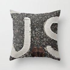 B-US-ES Throw Pillow