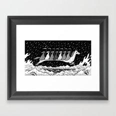 7 Riders Framed Art Print