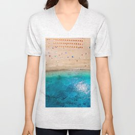 AERIAL. Summer beach Unisex V-Neck