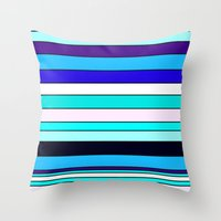 stripe Throw Pillows featuring Stripe by Mishu & Casco