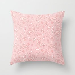 Cream Bandana Throw Pillow