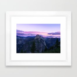 The Mountains and Purple Clouds Framed Art Print