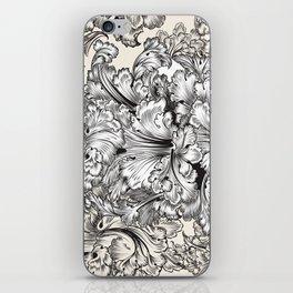Vintage Victorian hand drawn swirls iPhone Skin