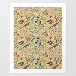 Yellow Scattered Flowers Art Print