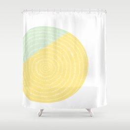Retro Mod Flower #2 by Friztin Shower Curtain