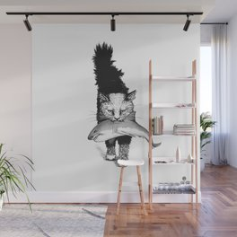 Shark-Cat Wall Mural