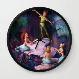 The Mermaid Lagoon-Peter Pan Wall Clock