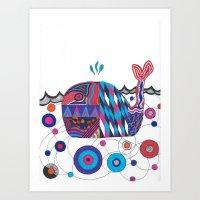Weird Whale. Art Print