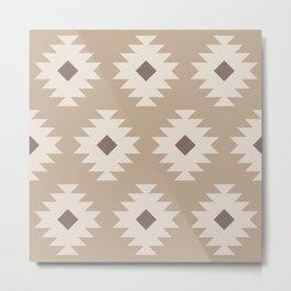 Southwestern Pattern 525 Beige Metal Print