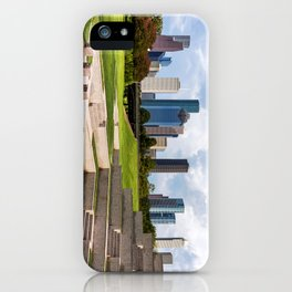 Downtown Houston Skyline from Police Officer's Memorial iPhone Case