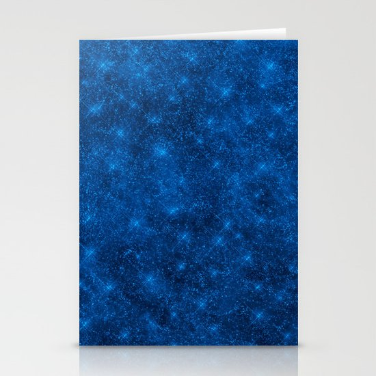 Sequin series blue Stationery Cards