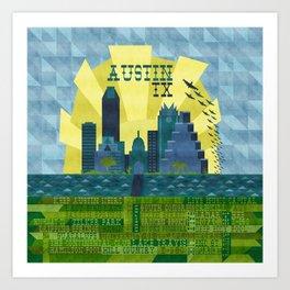 I love Austin, TX Art Print