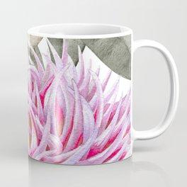 Pink And Gray Spring Peony Bouquet Coffee Mug