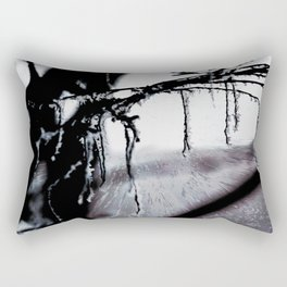 Concept frozen : Ice on branches Rectangular Pillow