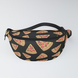 Pizza Party Black Pattern Fanny Pack
