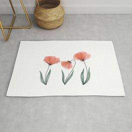 Spring Flower Trio Peach  Rug