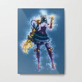 Steampunk Girl Metal Print