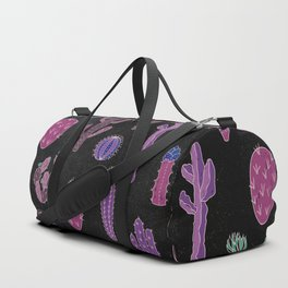 Cactus Pattern On Chalkboard Duffle Bag