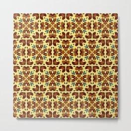 Abstract flower pattern 6d Metal Print