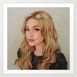 Olivia Holt Art Print