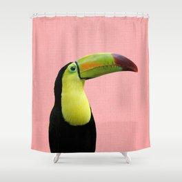 Toucan Bird - Pink Shower Curtain