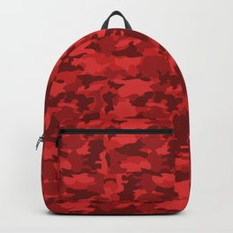 Red Background Camouflage Pattern Backpack