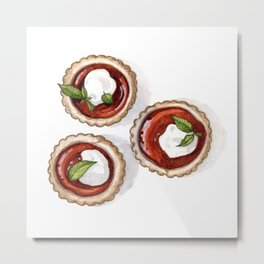 Desserts: Quince Tarts Metal Print
