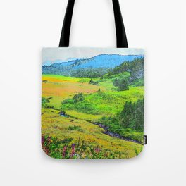 Alaska's Kenai Peninsula - Watercolor Tote Bag