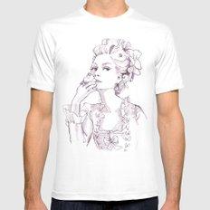 Marie Antoinette - Pen/Ink MEDIUM White Mens Fitted Tee