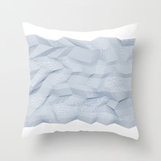 Facets - White and dark blue Throw Pillow