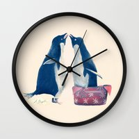 monty python Wall Clocks featuring Monty by Sprite Ideas