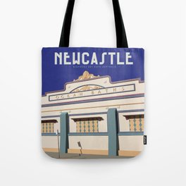 Newcastle Baths Australia Vintage Travel Style Tote Bag