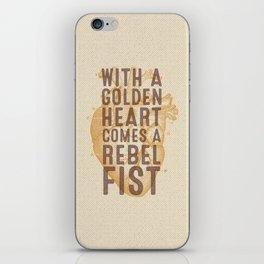 Golden Heart iPhone Skin