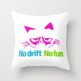 No drift No fun v4 HQvector Throw Pillow
