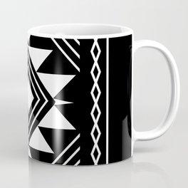 Aztec boho ethnic black and white Coffee Mug
