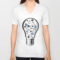 gravity V-neck T-shirts featuring GRAVITY by Jerzy Jachym