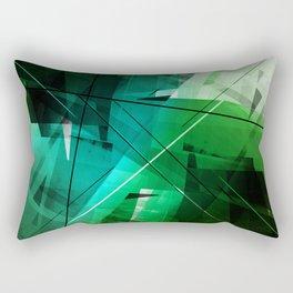 Jungle - Geometric Abstract Art Rectangular Pillow