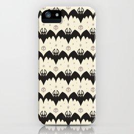 Bats & Skulls (WHITE) iPhone Case