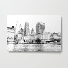 City of London Art Panorama Metal Print