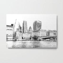 City of London Art Panorama Metal Print