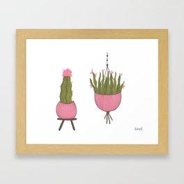 pink pots Framed Art Print