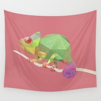 chameleon Wall Tapestries featuring Chameleon. by Diana D'Achille