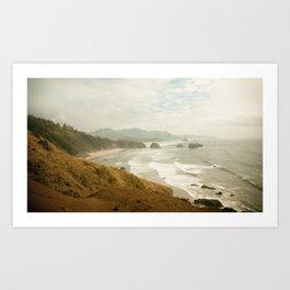 Ecola Beach Landscape, Oregon Art Print